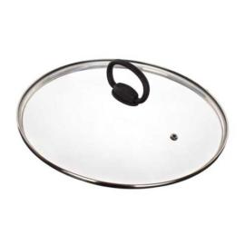 fém szélű üveg fedő 28 cm edényekhez Banquet
