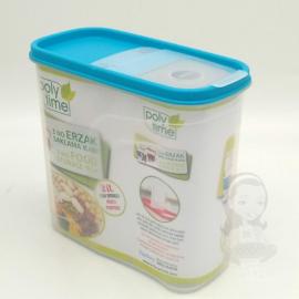 Poly-Time Bpa mentes műanyag légmentesen zárható fűszer és ételtaroló 1,25 literes