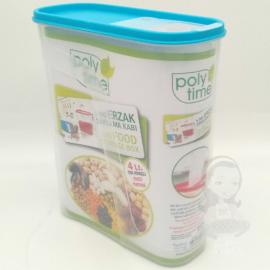 műanyag légmentesen zárható fűszer és ételtaroló 4 literes Poly-Time Bpa mentes