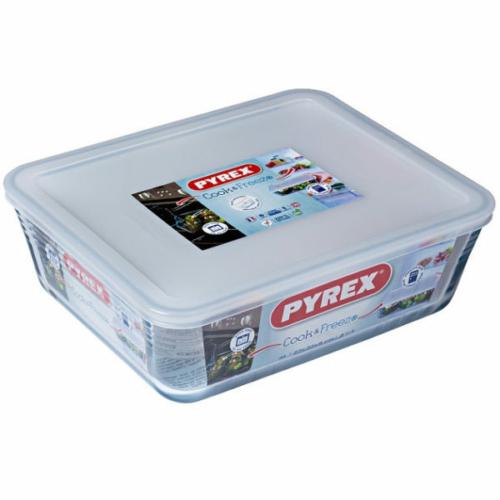 Pyrex COOK&FREEZE tégl. sütőtál+műa.tető 27x22x9 cm 4l - 203232