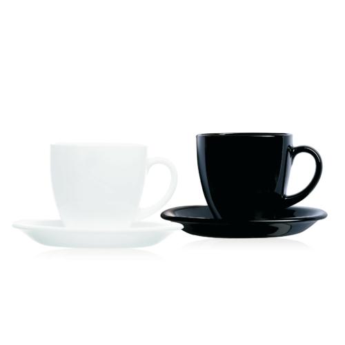 Luminarc Carine teás készlet 22 cl 6 db fekete-fehér - 502633