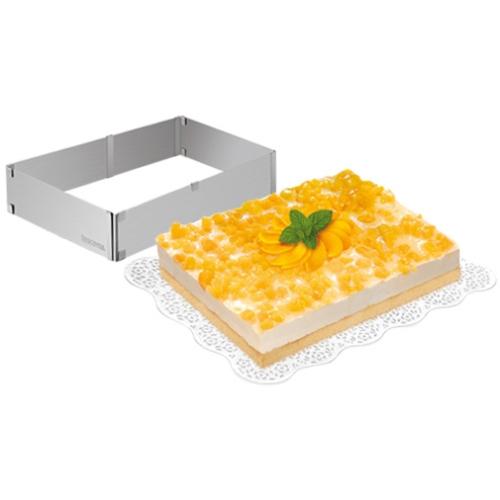 állítható téglalap tortaforma Tescoma Delicia rozsdamentes- 623382,