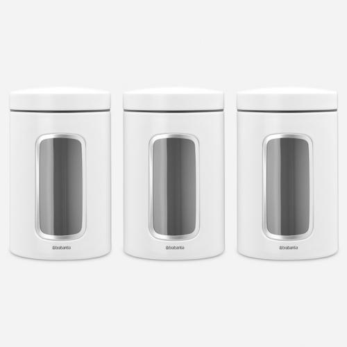 aromazárós tároló szett 3 x 1,4 liter fehér színben - Brabantia 306068