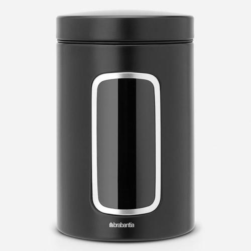 fűszertároló 1,4 literes fekete Brabantia ablakos - 333521