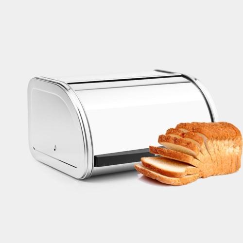 kenyértartó 1 kg-os inox - 339585 Brabantia Roll Top Bread Bin®,