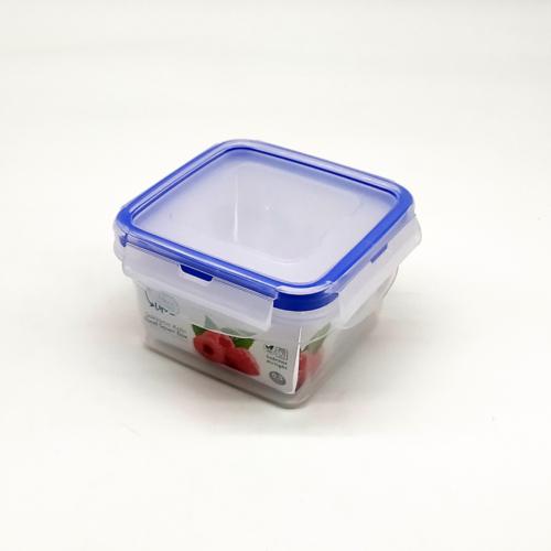 négyzet alakú ételtároló doboz szilikon tömítéssel 0,3 literes - 21400 Hobby life BPA mentes műanyag