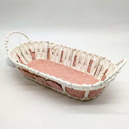 Fonott kenyeres kosárka pink - ED1115