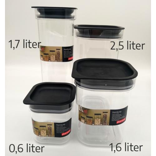 Plast team Hamburg átlátszó műanyag fűszertartó, vákumzáras 2,5 liter - 5172