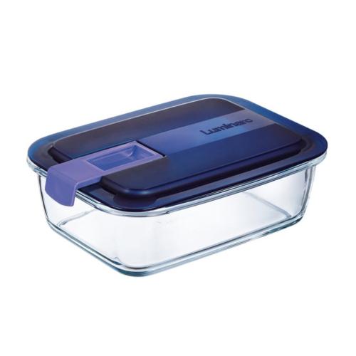 hőálló ételtároló szilikon szigetelésű fedéllel 0,82 liter 17x13 cm - Luminarc Easy Box