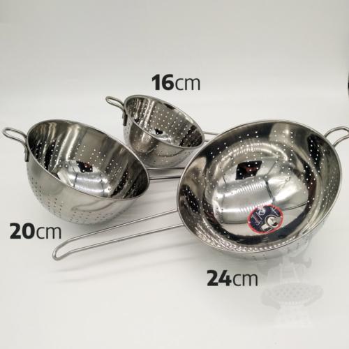 nyeles tésztaszűrő rozsdamentes acél 16 cm - Salvinelli 430097