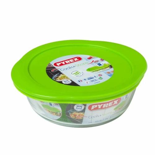 sütőtál műanyag fedővel 20cm - 203055 Pyrex Cook & Store kerek hőálló ,