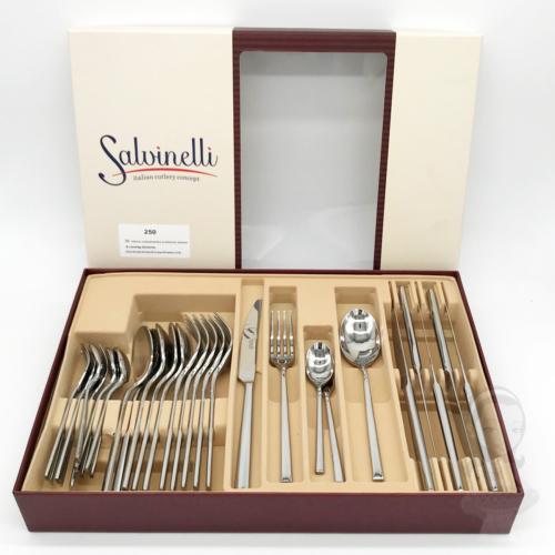 30 részes Salvinelli 250 evőeszköz készlet, rozsdamentes, 5 mm vastagság