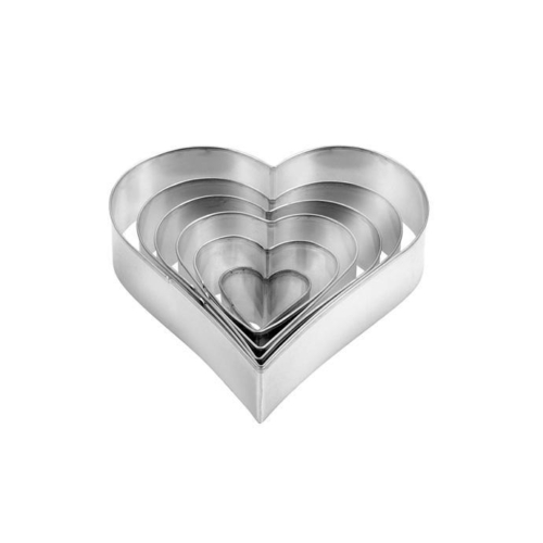 linzerkiszúró 6 db /szív alakú/ - 631362 Tescoma Delicia