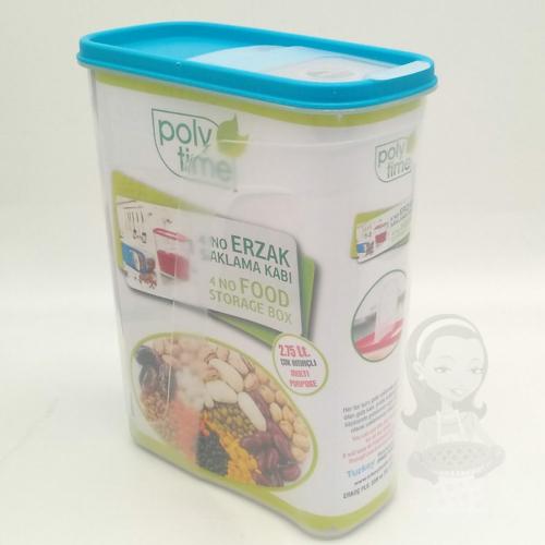 Poly-Time Bpa mentes műanyag légmentesen zárható fűszer és ételtaroló 2,75 literes